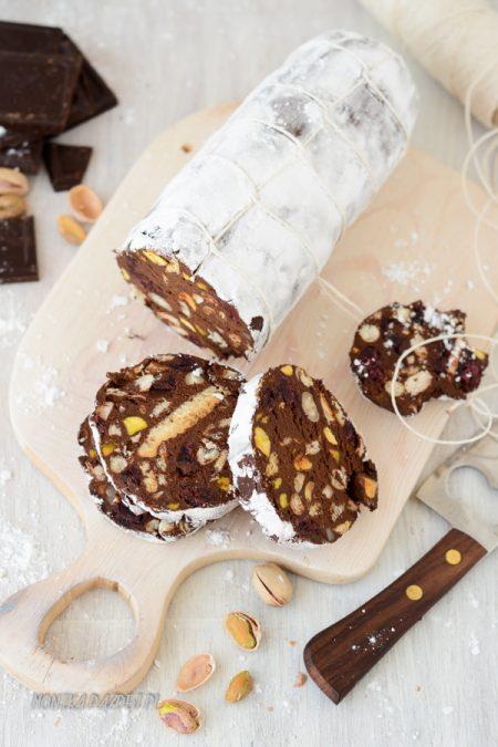 fotografia czekoladowe salami